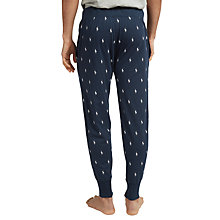 Buy Polo Ralph Lauren Allover Pony Print Jersey Jogger Trousers, Navy Online at johnlewis.com