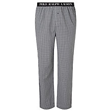 Buy Polo Ralph Lauren Sutton Woven Cotton Check Lounge Pants, Black Online at johnlewis.com