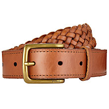 Buy Polo Ralph Lauren Leather Weave Belt, Tan Online at johnlewis.com