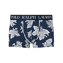 Buy Polo Ralph Lauren Flower Print Classic Stretch Cotton Trunks, Navy Online at johnlewis.com