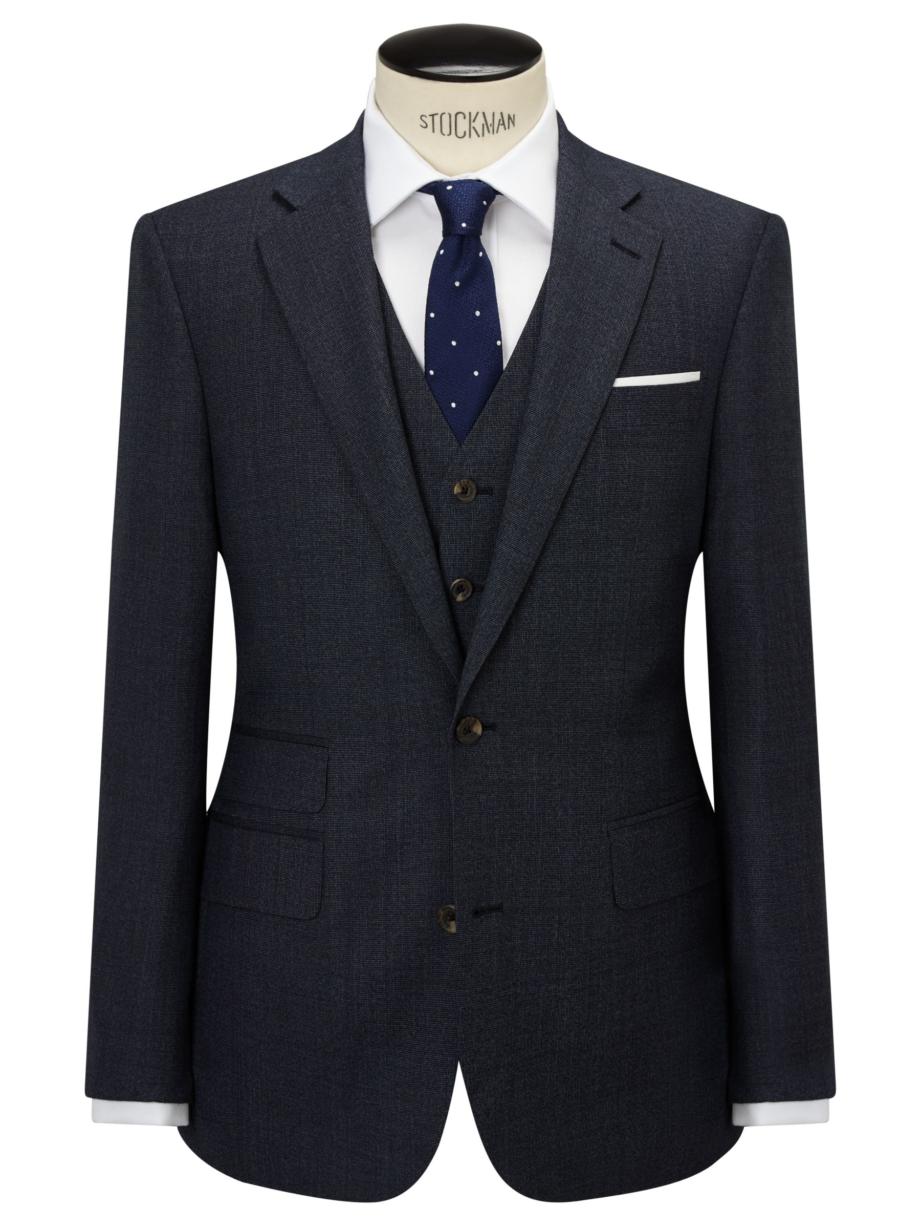 Chester by Chester Barrie Chester by Chester Barrie Pindot Wool Tailored Suit Jacket, Airforce