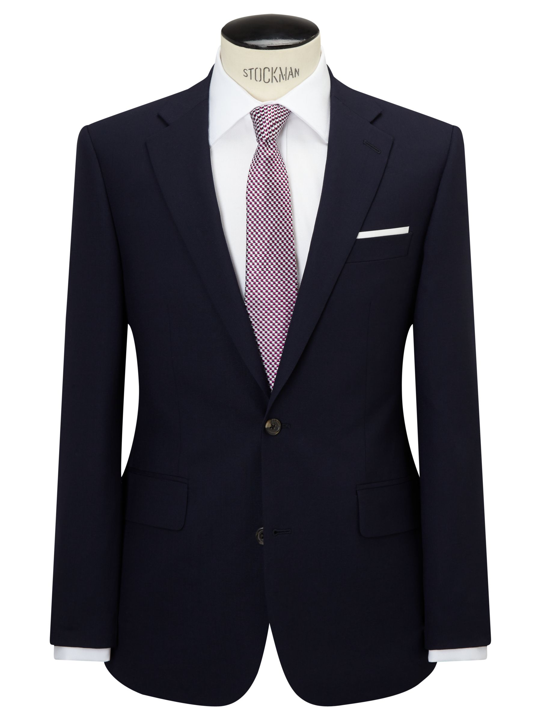 Chester by Chester Barrie Chester by Chester Barrie Hopsack Wool Tailored Suit Jacket, Navy