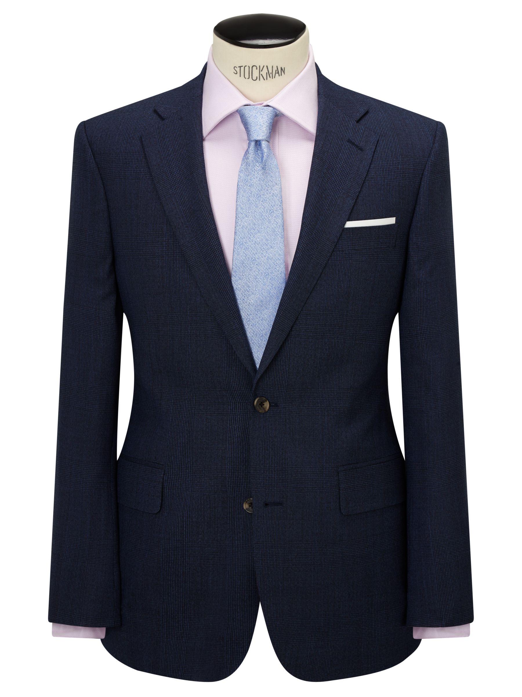Chester by Chester Barrie Chester by Chester Barrie Wool Glen Check Tailored Suit Jacket, Indigo