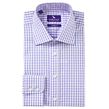 Buy Chester by Chester Barrie Grid Check Tailored Fit Shirt, Lilac/Sky Online at johnlewis.com