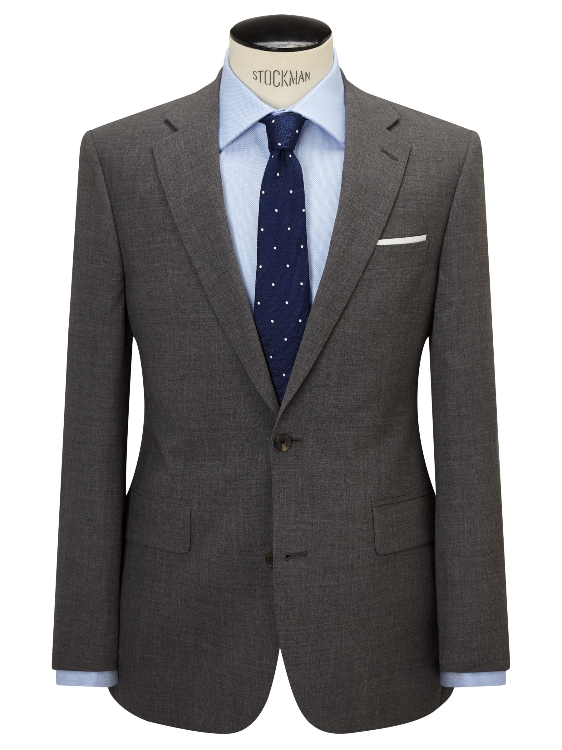 Chester by Chester Barrie Chester by Chester Barrie Three Ply Worsted Wool Tailored Suit Jacket, Grey