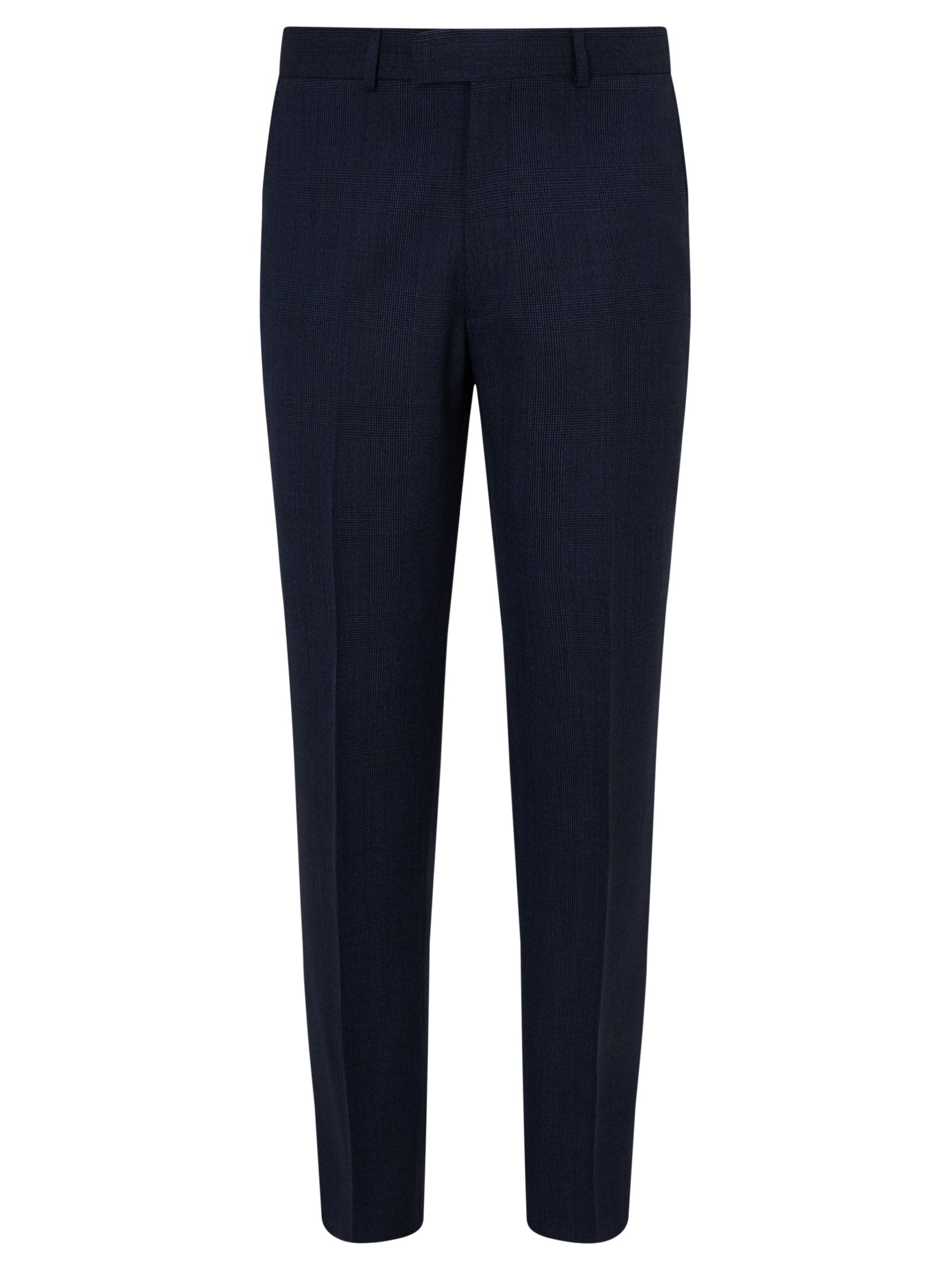Chester by Chester Barrie Chester by Chester Barrie Wool Glen Check Tailored Suit Trousers, Indigo