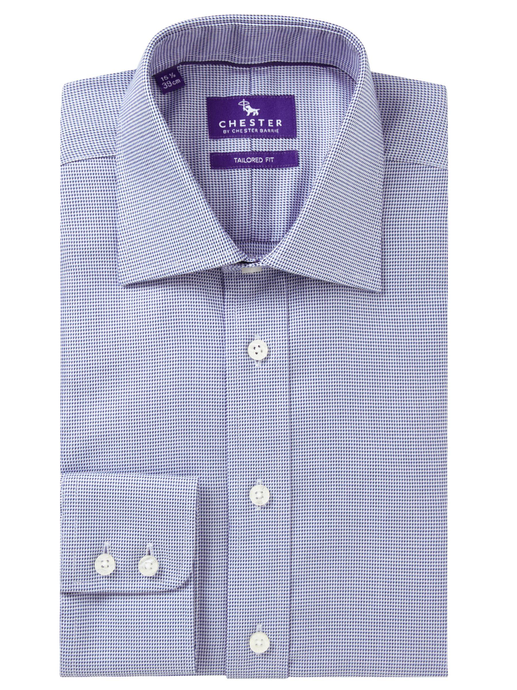 Chester by Chester Barrie Chester by Chester Barrie Mini Chevron Tailored Fit Shirt