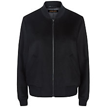 Buy Jaeger Wool Bomber Jacket, Black Online at johnlewis.com