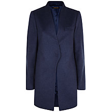 Buy Jaeger Wool Cashmere Coat, Denim Online at johnlewis.com