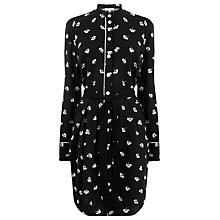 Buy Warehouse Dandy Monochrome Shirt Dress, Black Online at johnlewis.com