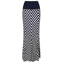 Buy Phase Eight Chevron Stripe Maxi Skirt, Navy/White Online at johnlewis.com