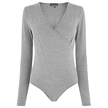 Buy Warehouse Long Sleeve Wrap Front Body Online at johnlewis.com