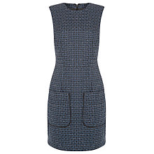 Buy Warehouse Lupita Tweed Dress, Navy Online at johnlewis.com