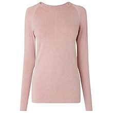Buy L.K. Bennett Flo Jersey Top, Bardot Pink Online at johnlewis.com