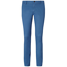 Buy BOSS Orange Schino Slender Trousers, Open Blue Online at johnlewis.com