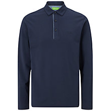 Buy BOSS Green C-Tivoli Long Sleeve Polo Shirt, Navy Online at johnlewis.com