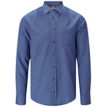 Buy BOSS Orange EslimE1 Cotton Shirt, Dark Blue Online at johnlewis.com