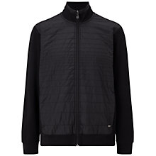 Buy BOSS Green C-Pizzoli Full Zip Sweatshirt Jacket, Black Online at johnlewis.com