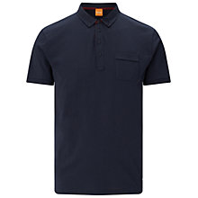 Buy BOSS Orange Playit Polo Shirt, Dark Blue Online at johnlewis.com