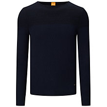 Buy BOSS Orange Kwenys Jumper, Dark Blue Online at johnlewis.com