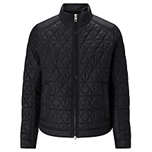 Buy BOSS Orange Obray Padded Quilted Biker Jacket, Black Online at johnlewis.com