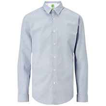 Buy BOSS Green C-Bustai Cotton Shirt, Open Blue Online at johnlewis.com