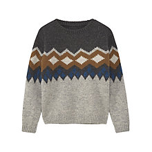 Buy Mango Kids Boys' Daniel Wool Rich Jacquard Jumper, Grey Online at johnlewis.com