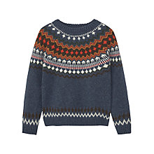 Buy Mango Kids Boys' Fair Isle Jumper, Blue Online at johnlewis.com