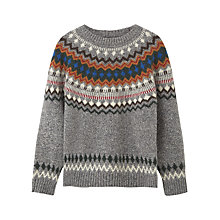 Buy Mango Kids Boys' Wool Rich Jacquard Fair Isle Jumper, Grey Online at johnlewis.com
