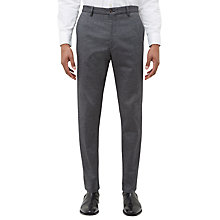 Buy Jaeger Cotton Birdseye Slim Fit Trousers, Grey Online at johnlewis.com