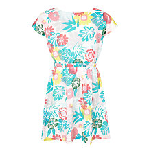 Buy John Lewis Girls' Tropical Floral Sun Dress, Blue Online at johnlewis.com