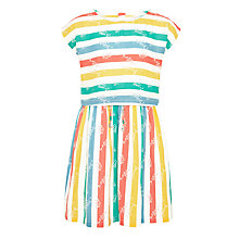 Buy John Lewis Girls' Stripe Woven Dress, Multi Online at johnlewis.com