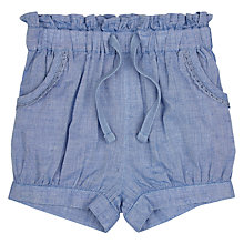 Buy John Lewis Baby Chambray Shorts, Blue Online at johnlewis.com