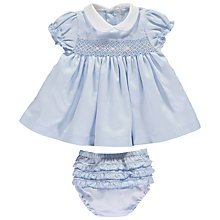 Buy Mini La Mode Baby Pima Cotton Katy Dress Set, Blue Online at johnlewis.com