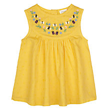 Buy John Lewis Baby Broderie Top, Yellow Online at johnlewis.com