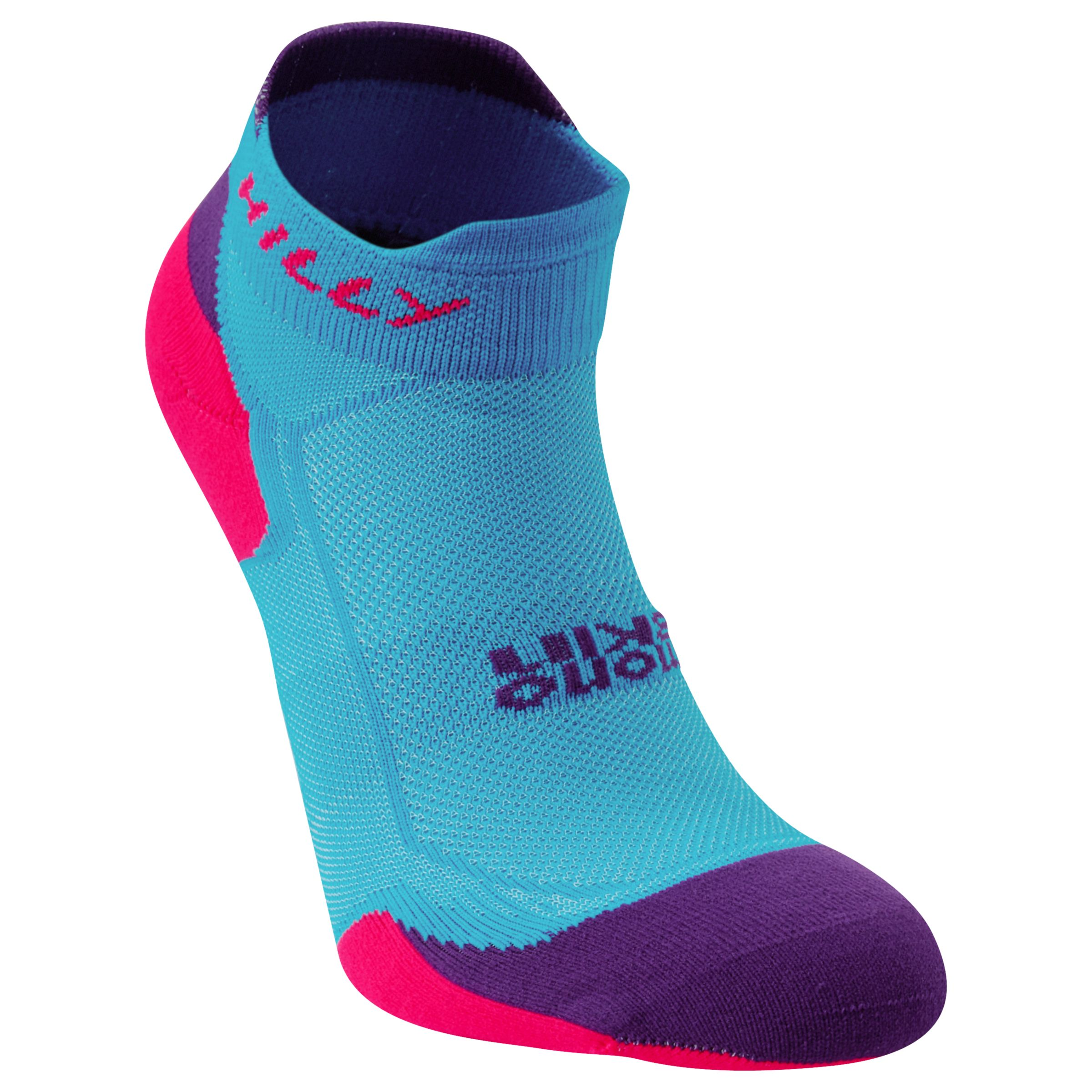 Hilly Hilly Lite Cushion Mono Skin Socklets, Blue/Purple
