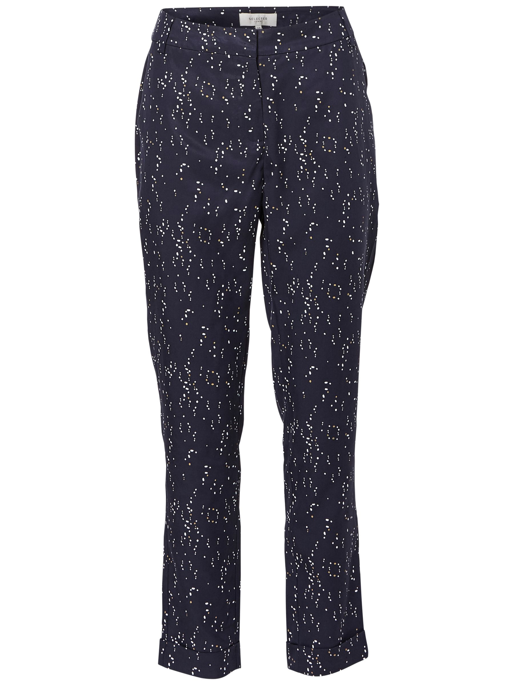 Selected Femme Selected Femme Gaila Printed Trousers, Dark Sapphire