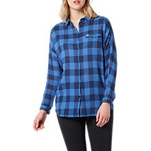 Buy Lee One Pocket Check Shirt, Deep Indigo Online at johnlewis.com