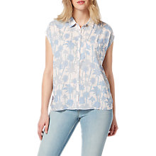 Buy Lee Palm Tree Print Shirt, Pale Pink Online at johnlewis.com
