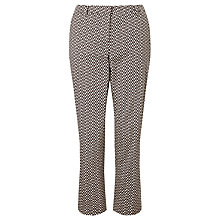 Buy Weekend MaxMara Extra Printed Trousers, Dark Brown/White Online at johnlewis.com