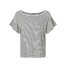 Buy Weekend MaxMara Era Stripe T-Shirt, Black/White Online at johnlewis.com