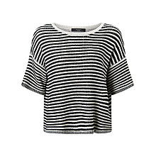 Buy Weekend MaxMara Gang Stripe Jumper, Black/White Online at johnlewis.com