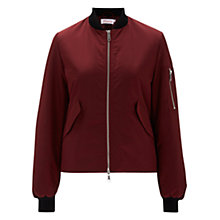 Buy Finery Wyatt Bomber Jacket, Burgundy Online at johnlewis.com