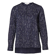 Buy Selected Femme Gaila Printed Blouse, Dark Sapphire Online at johnlewis.com