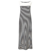 Buy Weekend MaxMara Citrato Jersey Maxi Dress, Black/White Online at johnlewis.com