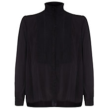 Buy Ghost Teagan Satin Blouse, Black Online at johnlewis.com