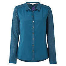 Buy White Stuff Fennel Jersey Shirt, Cavolo Teal Online at johnlewis.com
