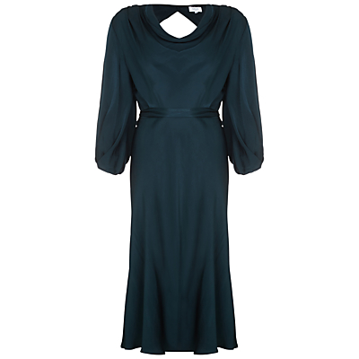 Ghost Astrid Satin Dress, Portia Green