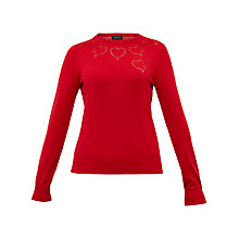 Buy Ted Baker Iarni Heart Detail Cut Work Jumper Online at johnlewis.com