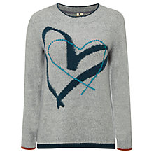Buy White Stuff Cross My Heart Jumper, Grey Online at johnlewis.com